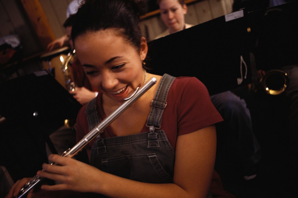 Young Flutist Laughing ca. 2000