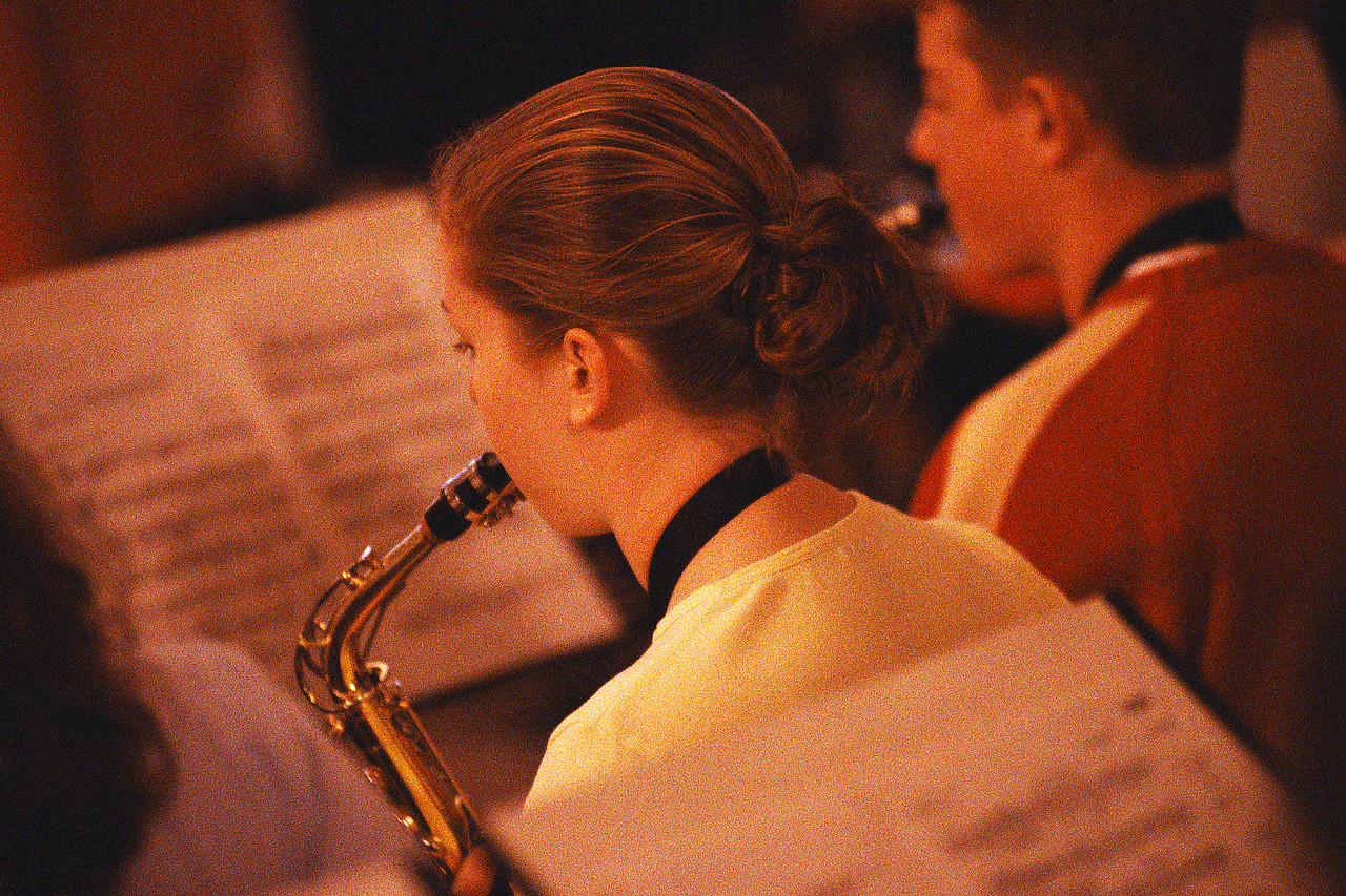 Saxophonists in School Band ca. 2000